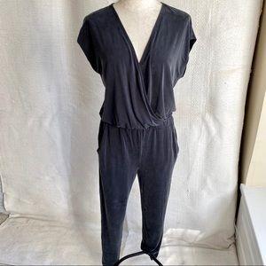 Lou & Grey S Jumpsuit NWOT Black Wrap Skinny Legs